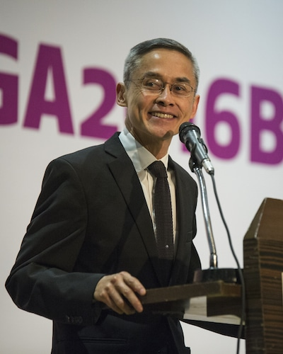 """We seek simply to be what we are, in our love, friendship, privacy and intimacy under the protection of international law,"" Vitit Muntarbhorn, U.N. independent expert on LGBT rights, speaking at ILGA World 2016."